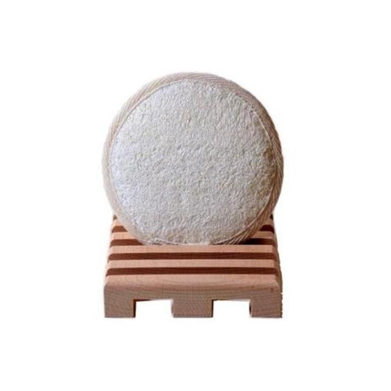 Éponge ronde loofah long 10 cm - Savonnerie Argasol