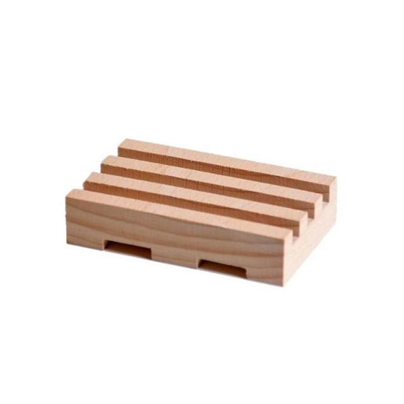 Mini porte Savon bio artisanal en bois - Savonnerie Argasol
