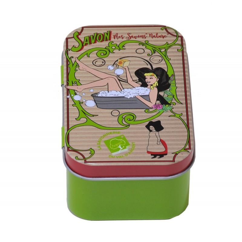 Boîte à Savon bio artisanal voyageur Délicieuses Bonbons - Savonnerie Argasol