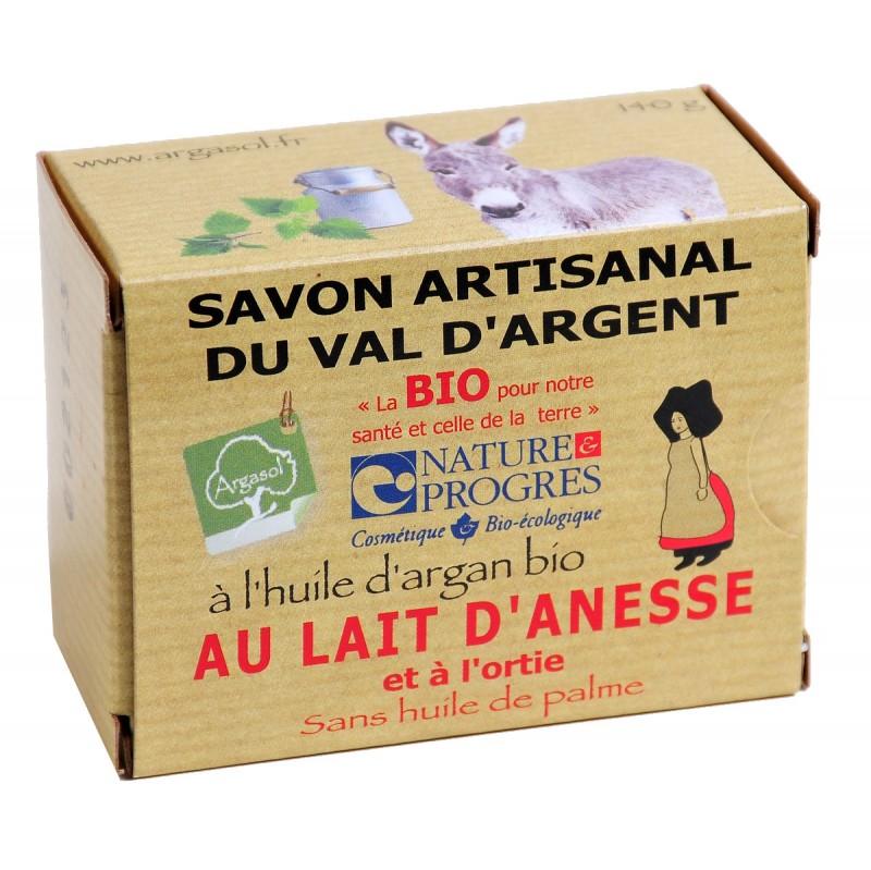 Savon bio artisanal au Lait d'Anesse et à l'Ortie - Savonnerie Argasol