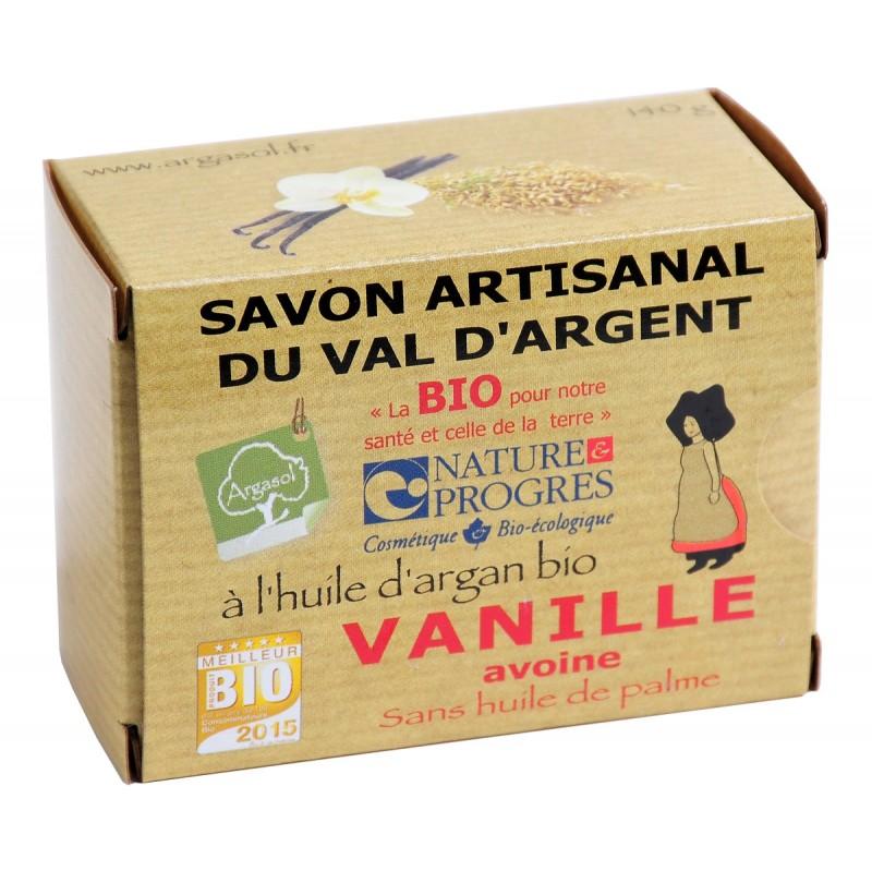 Savon bio artisanal à la Vanille et à l'Avoine - Savonnerie Argasol
