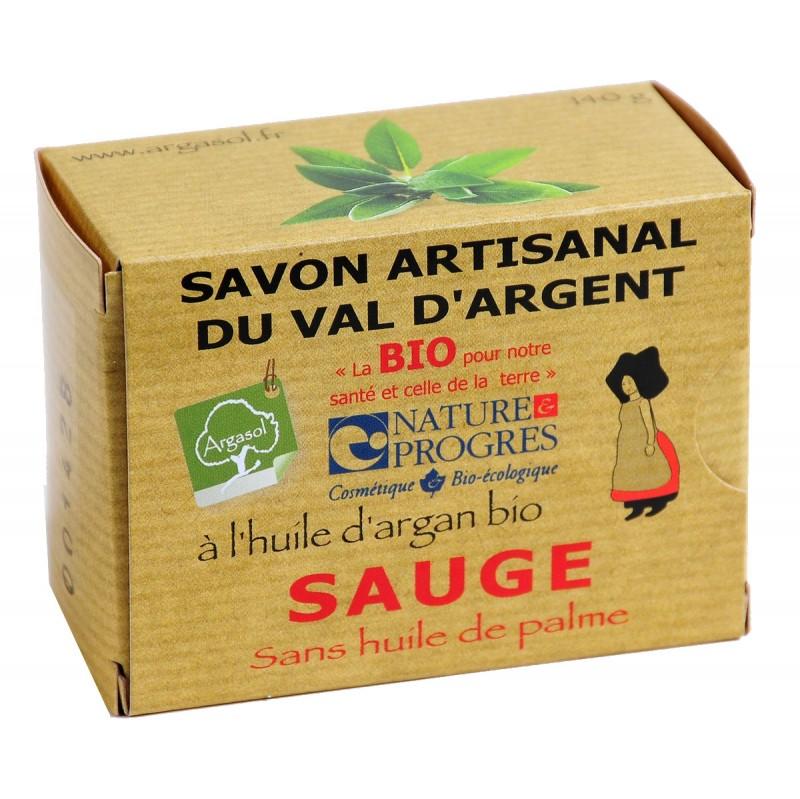 Savon bio artisanal à la Sauge - Savonnerie Argasol