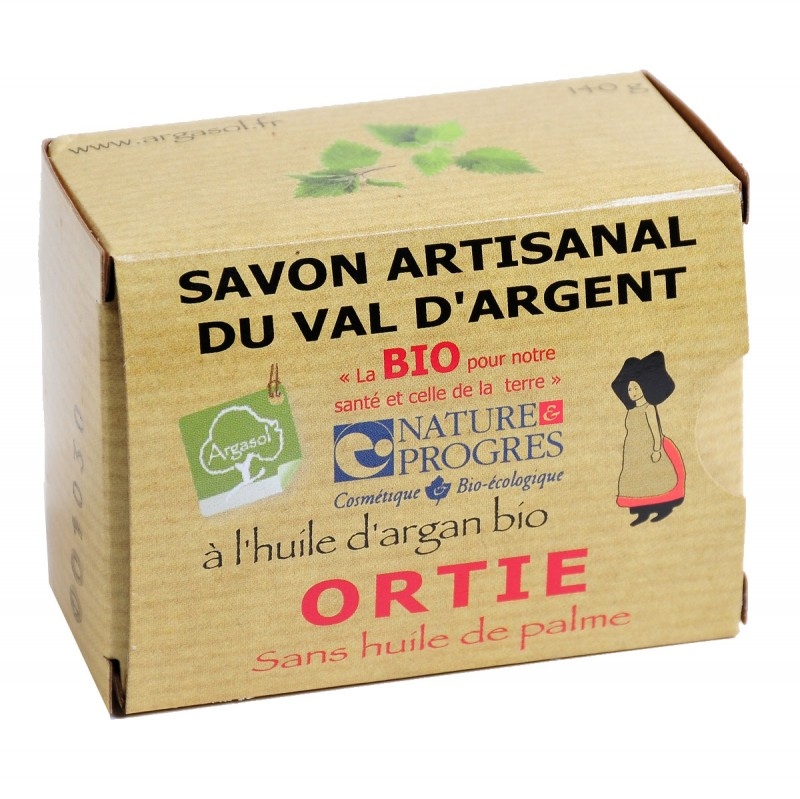 Savon bio artisanal à l'Ortie - Savonnerie Argasol
