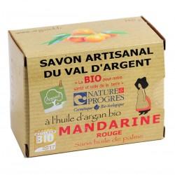 Savon bio artisanal à la Mandarine Rouge - Savonnerie Argasol