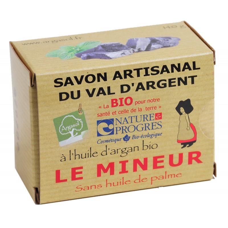 Savon bio artisanal Le Mineur - Savonnerie Argasol