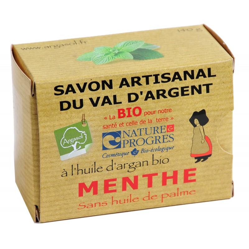 Savon bio artisanal à la Menthe - Savonnerie Argasol